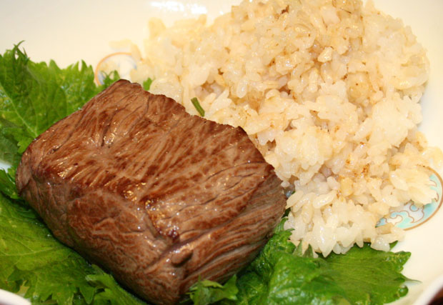 犬用の牛肉のチャーハンのレシピ