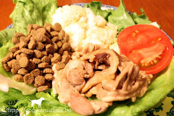 犬の手作り食、ラム肉のソテー